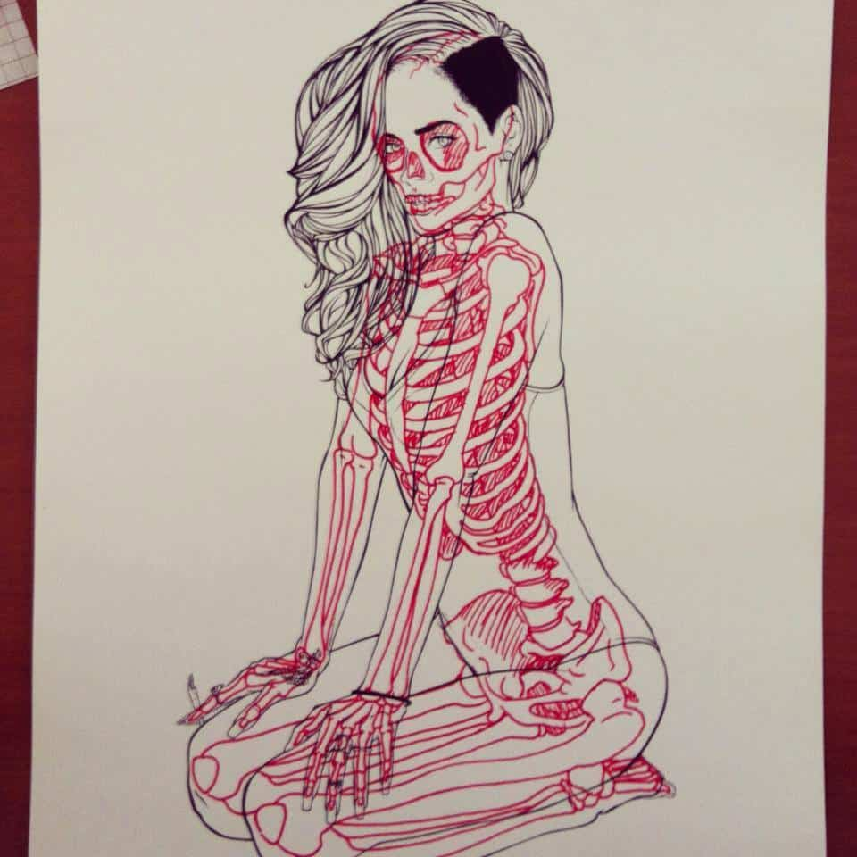 Chris Panda X-Ray Series Rihanna