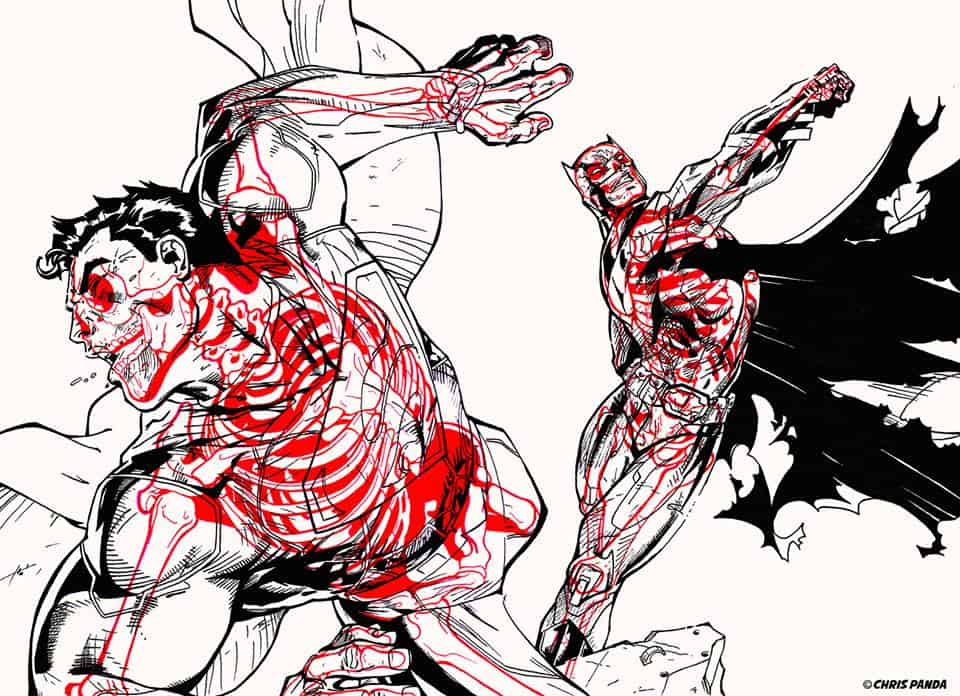 Chris Panda X-Ray Series Superman vs Batman DC Comics