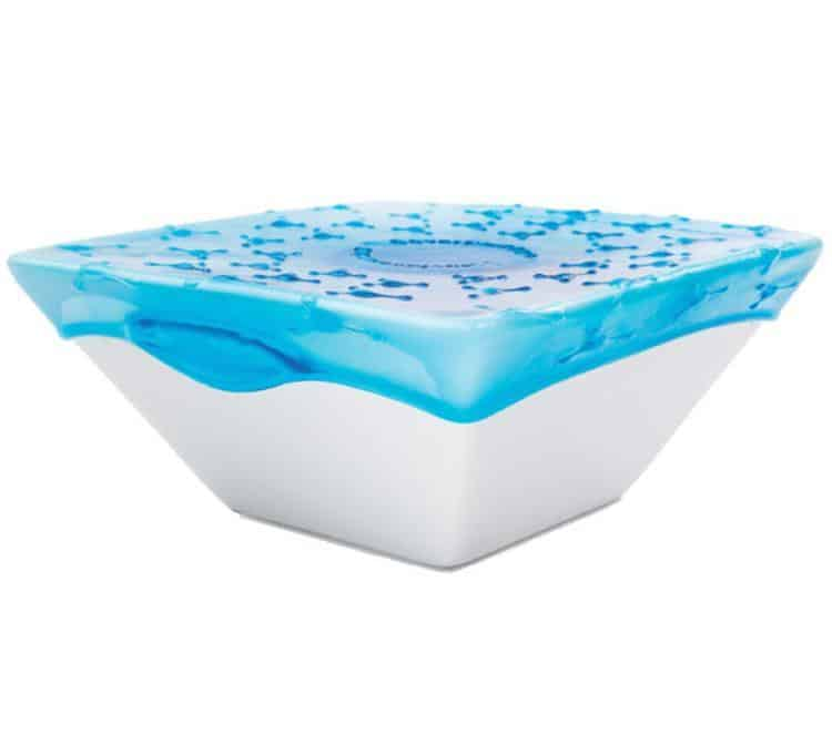 Cover Blubber Food Wrapper Blue Strecthable Lid Square Bowl
