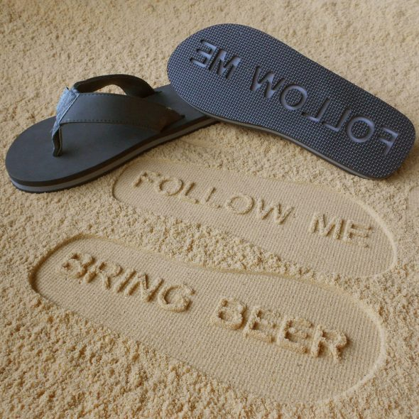 FlipSidez-FOLLOW-ME-BRING-BEER-Sandals-Novelty-Footware