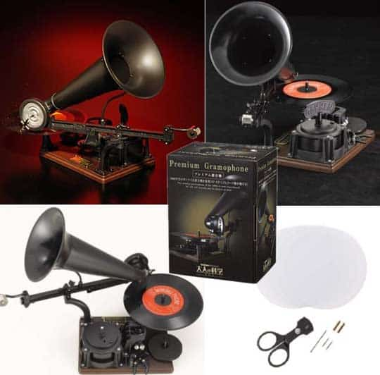 Gakken Premium Gramophone Retro Mechanical Record Player