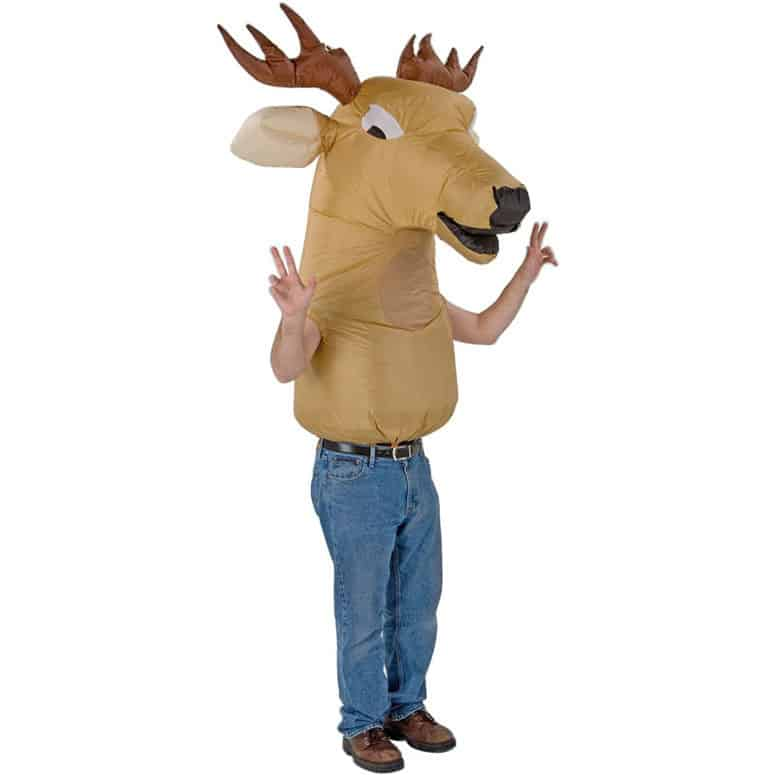 Inflatable Big Animal Head Deer Costume Funny