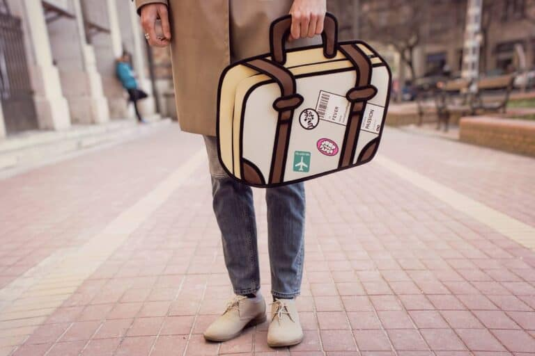 Jump From Paper Travel Fever 2D Cartoon Bag Cool Fashion Accessory