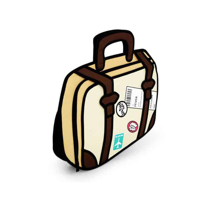 Jump From Paper Travel Fever 2D Cartoon Bag Hip Design