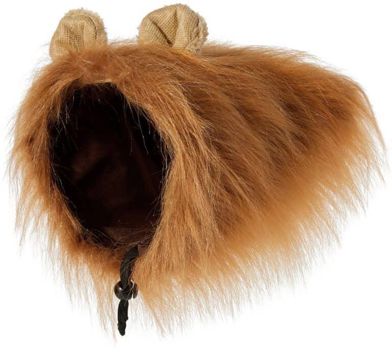 Lion Mane Wig Dog Costume Brown Fur