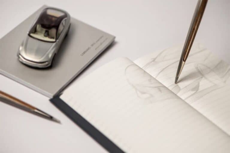 Napkin Forever Pininfarina Cambiano Inkless Metal Pen Luxury Pencil
