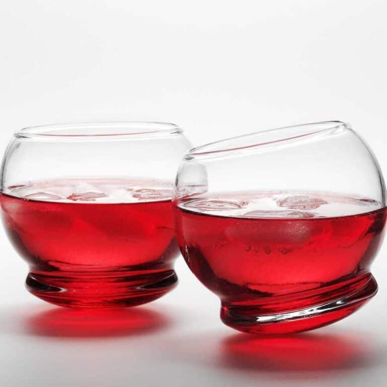 Normann Copenhagen Rocking Glasses Red Juice