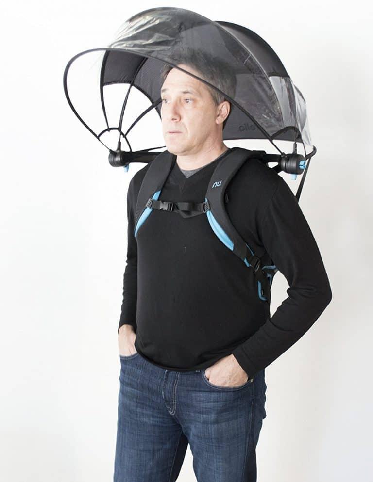 Nubrella Hands Free Umbrella Cool Invention