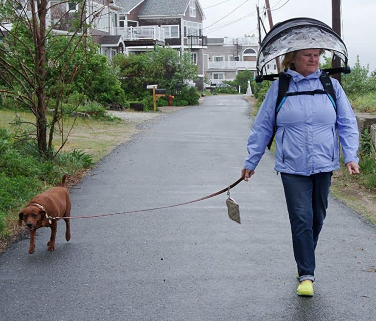 Nubrella Hands Free Umbrella Cycling Dog Walking