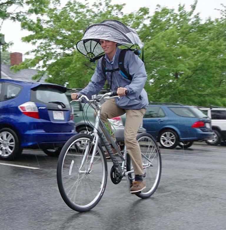 Nubrella Hands Free Umbrella Cycling Hands Free