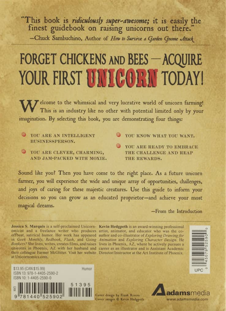 Raising Unicorns Book Rear Cover
