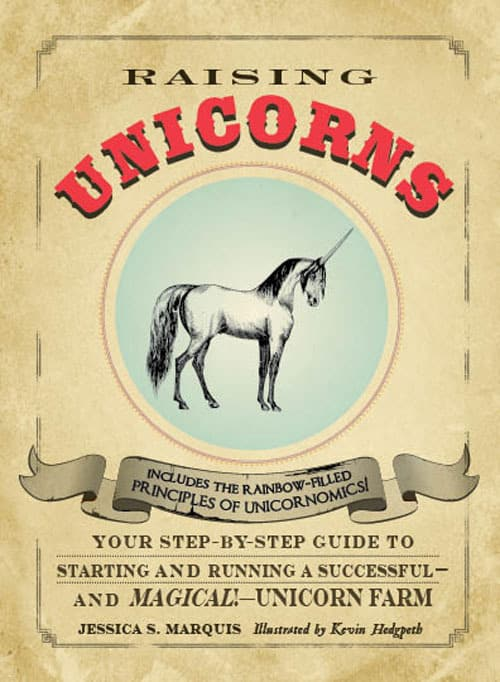 Raising Unicorns Book Start your Magical Unicorn Farm Today Gag Gift