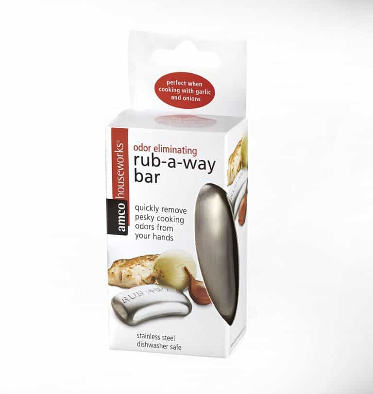 Rub A Way Odor Absorber Stainless Steel Soap Bar White Box Packaging