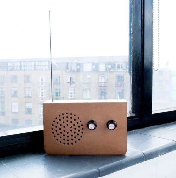 SUCK UK Cardboard Radio Apartment Window