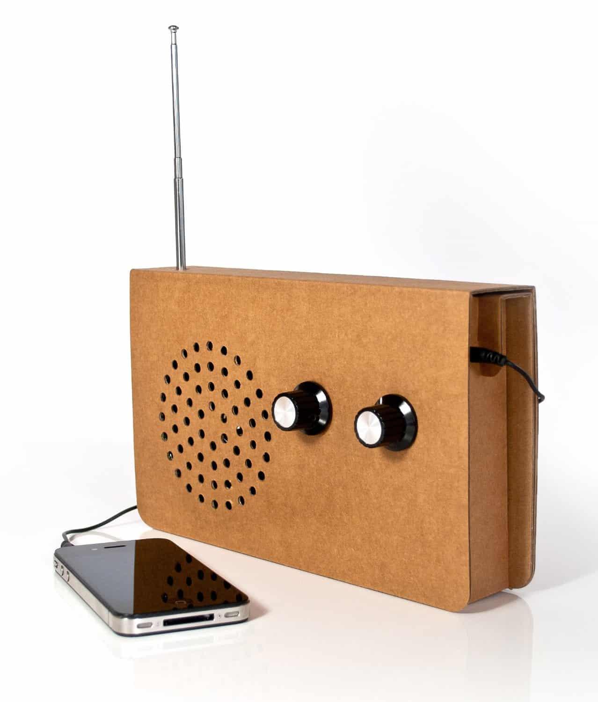 SUCK UK Cardboard Radio Minimalistic Gadget Audiophile
