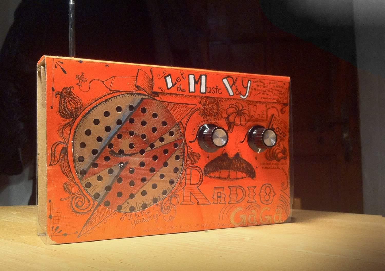 SUCK UK Cardboard Radio Novelty Item Cool Design
