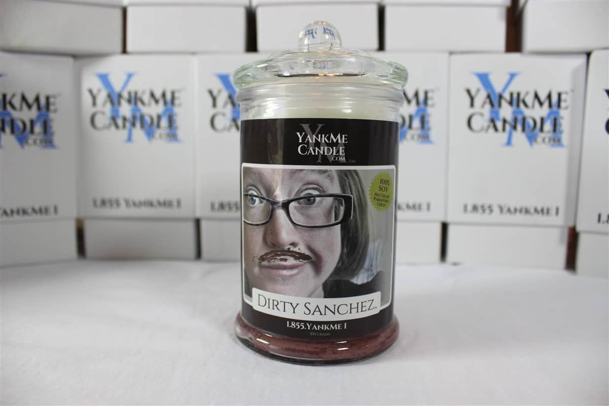 Stinky Candle Dirty Sanchez Girl Chocolate Mustache