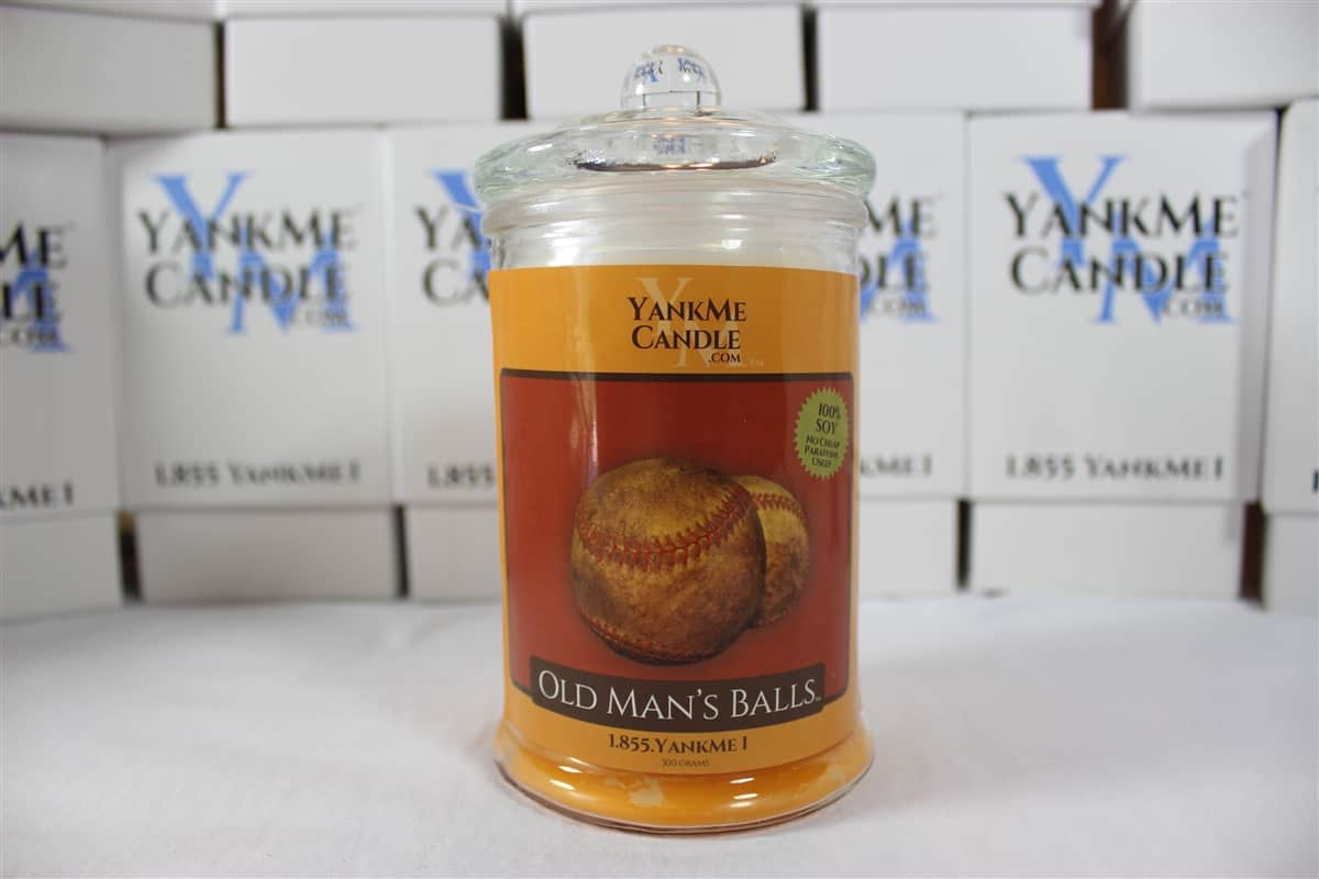 Stinky Candle Old Mans Balls Dirty Baseballs