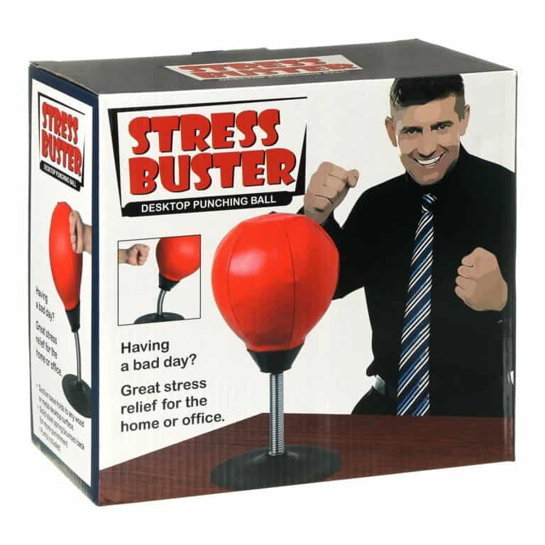 Stress Buster Desktop Punching Ball Box Packaging