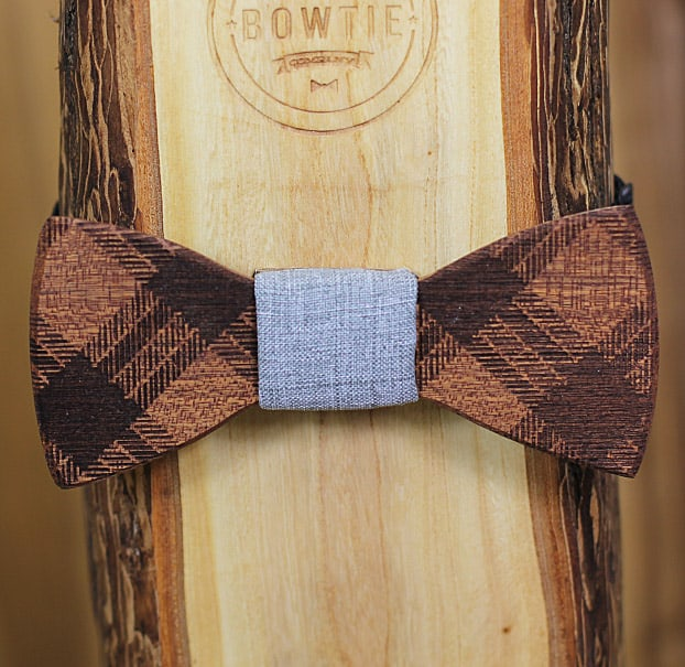 Is you bowtie made of wood?