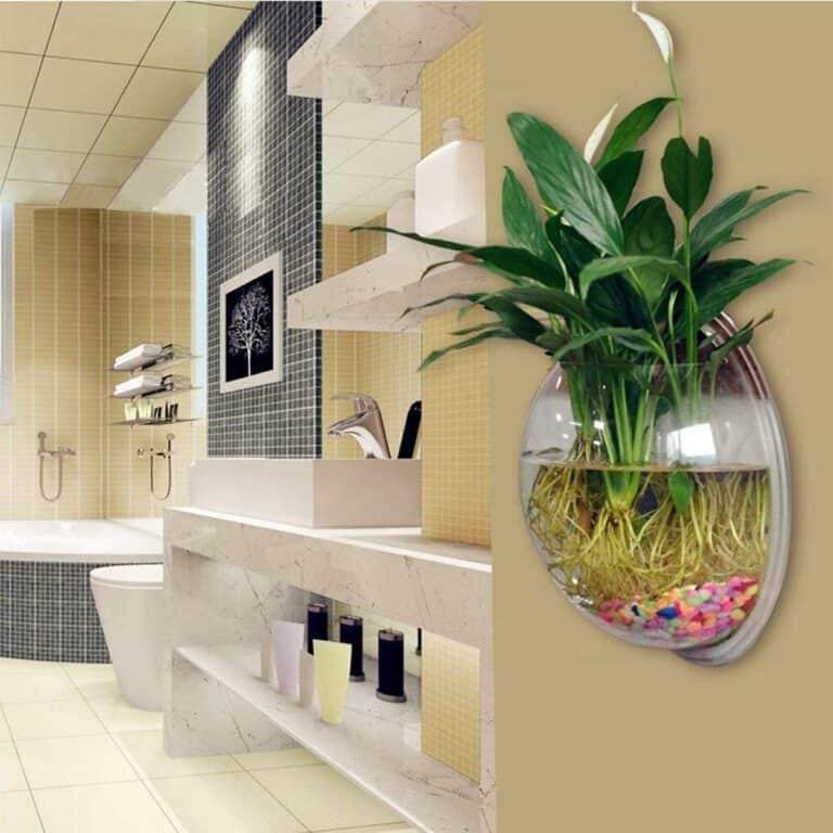 Wall Hanging Acrylic Fish Bowl Bathroom Accent