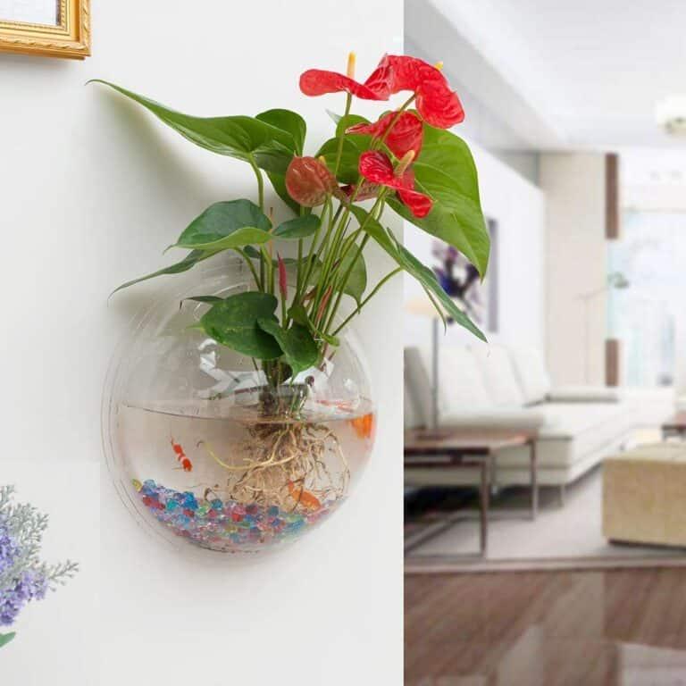 Wall Hanging Acrylic Fish Bowl Cool Indoor Planter
