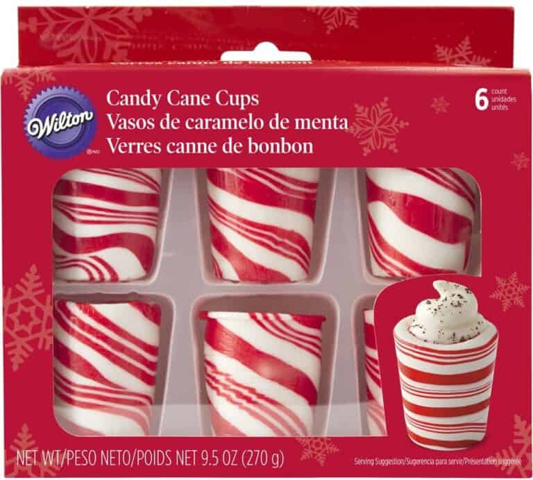 Wilton Peppermint Candy Shot Glasses Striped Cane Cups