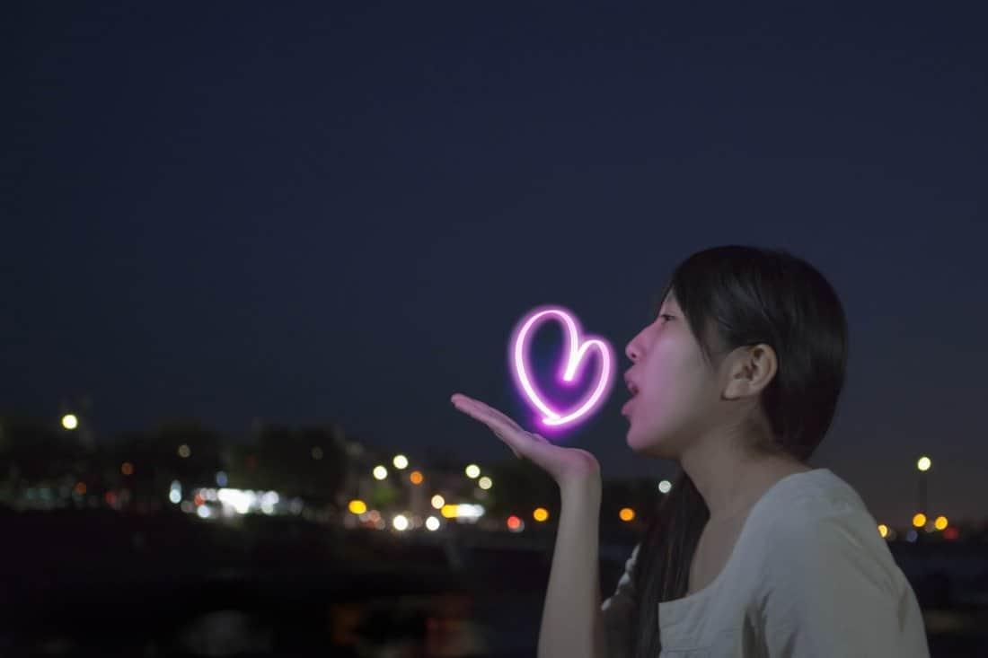 Yozora Oekaki Art Penlight Pink Light Heart