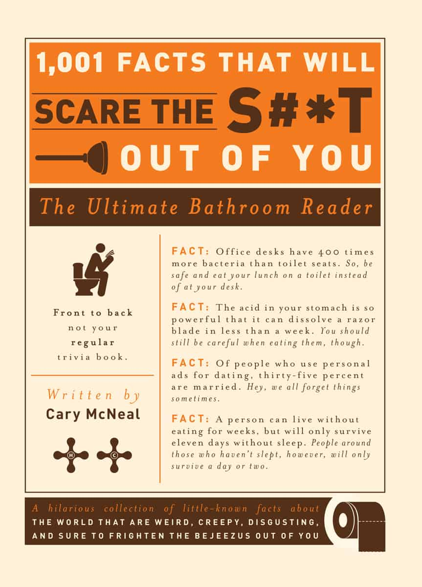 1001-Facts-that-Will-Scare-the Shit Out of You The Ultimate Bathroom Reader Toilet Companion Trivia Book Cover
