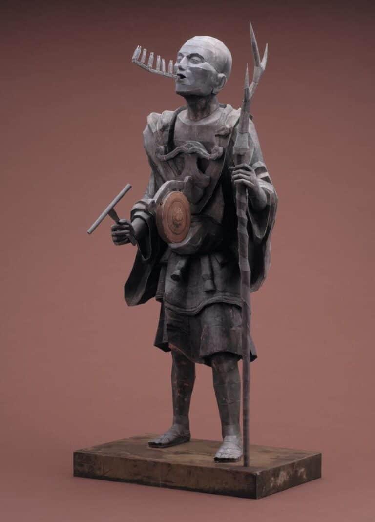 21st Century Papercraft Kuya Kamito Statue Japanese Priest Paper Craft Hobby