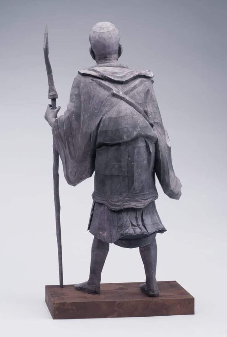 21st Century Papercraft Kuya Kamito Statue Japanese Priest Realistic Paper Model