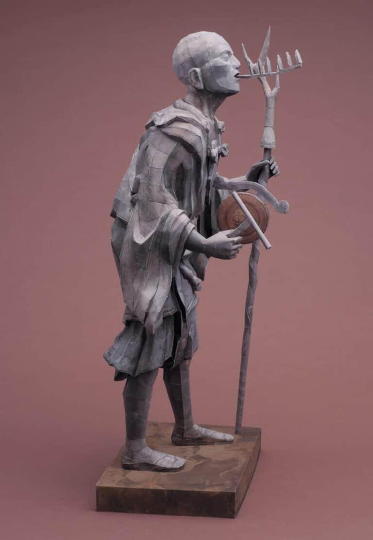 21st Century Papercraft Kuya Kamito Statue Japanese Priest Weird Stuff to Buy