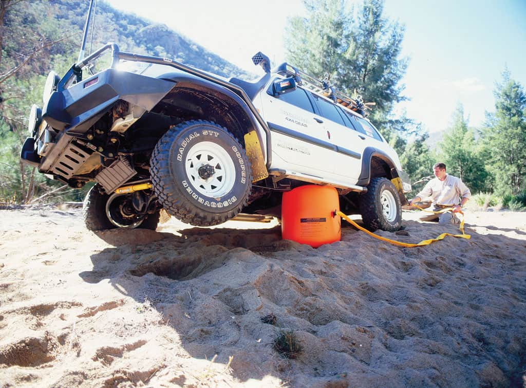Bushranger X-Jack Arb Recovery Gear 4x4 Stuck on Sand