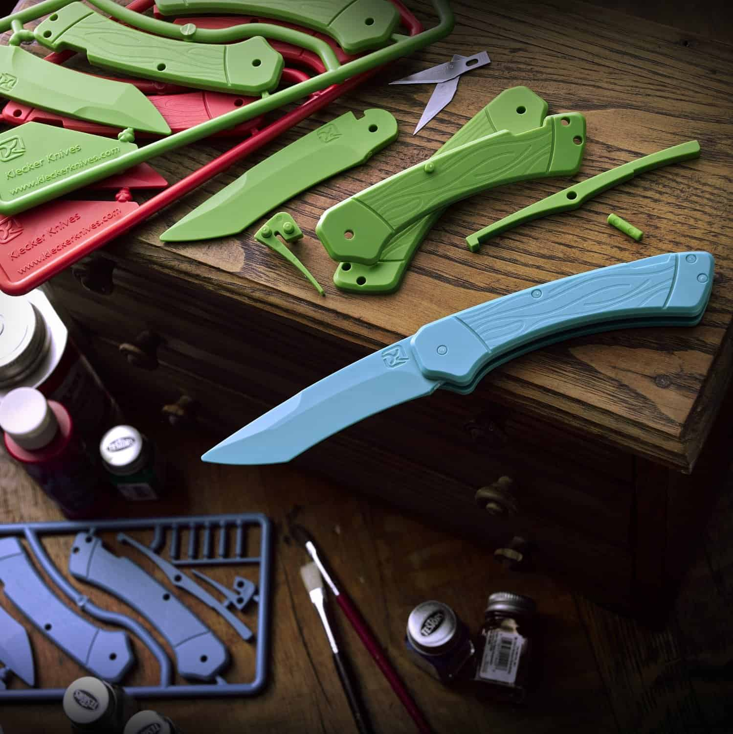 DIY Trigger Knife Kit Fun Activity with Kids Build a Plastic Knife