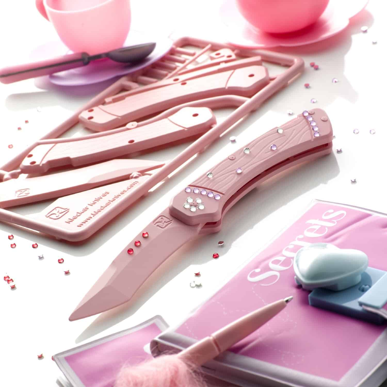 DIY Trigger Knife Kit Pink Teach Kids About Knives