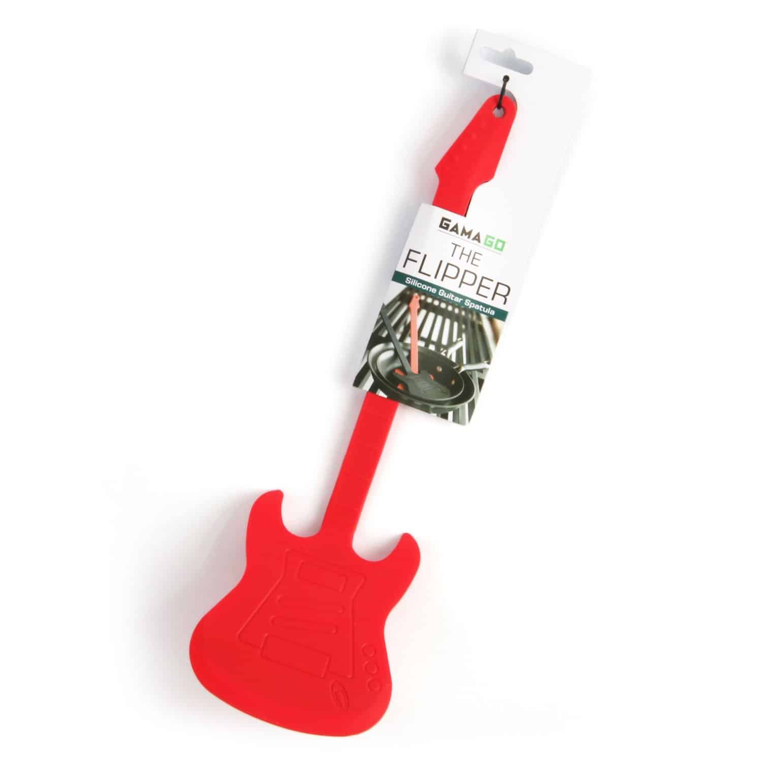 GAMA GO Flipper Silicone Guitar Spatula Red Gift For Dad