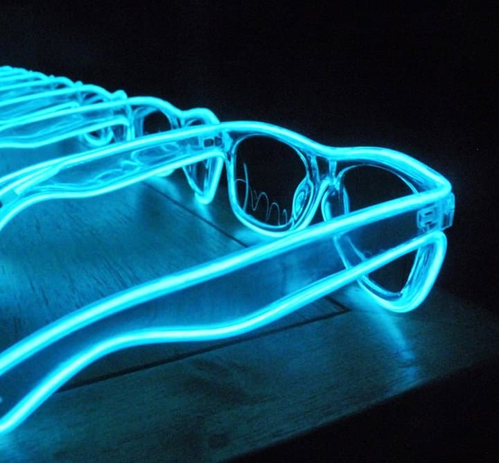 Glow in the Dark Sunglasses Blue Light