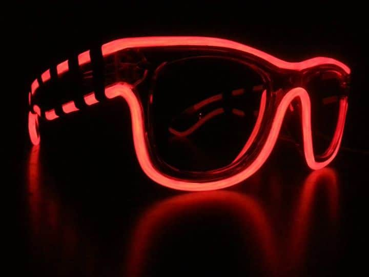 Glow in the Dark Sunglasses Red Light