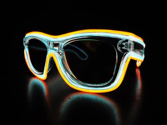 Glow in the Dark Sunglasses Tron Flynn Inspired Cool Party Accessory