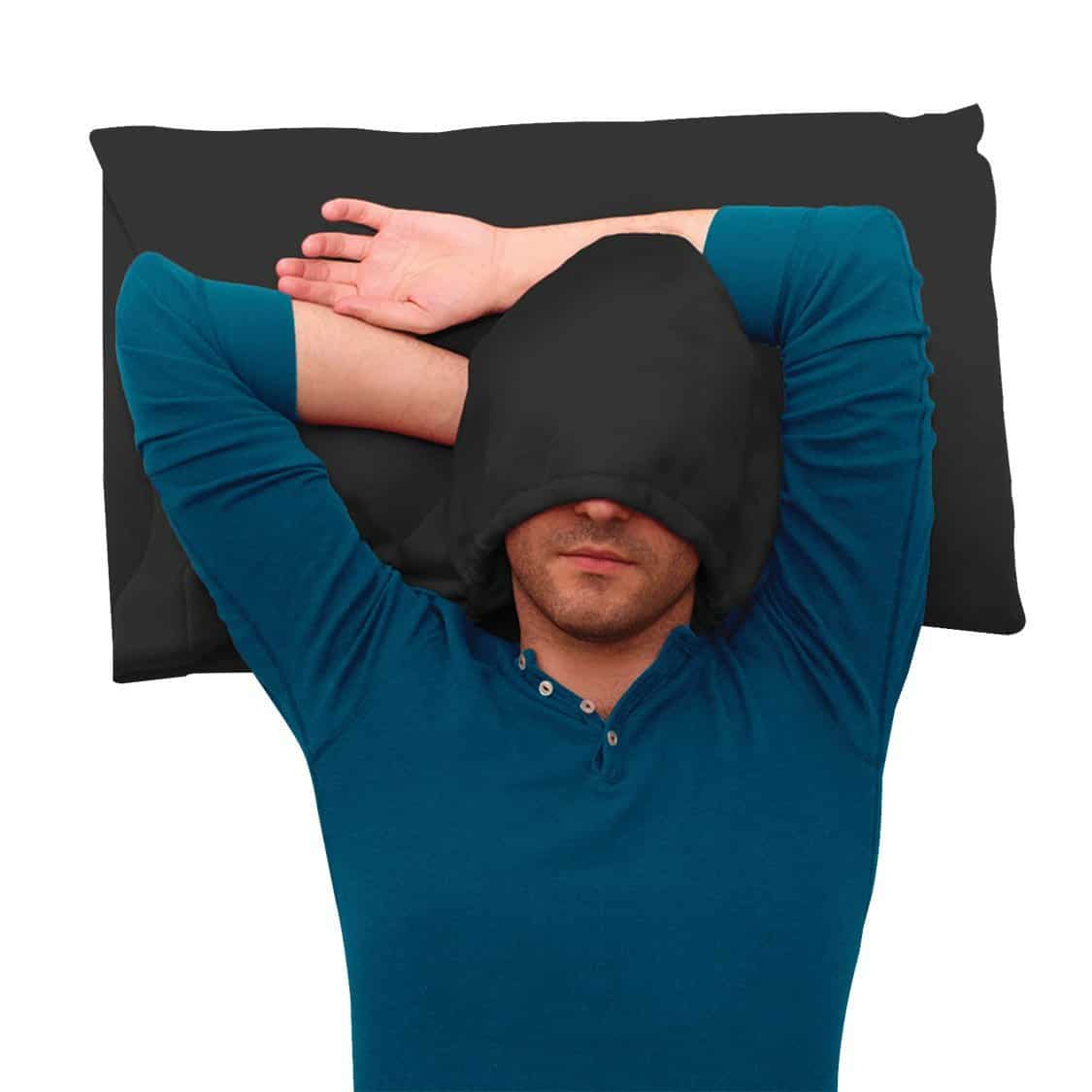 HoodiePillow Hooded Pillowcase Cool Invention