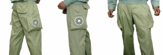 Kuchofuku Air-Conditioned Cooling Pants Khaki Cargo Pants