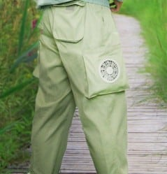 Air-conditioned trousers for those hot sunny days.