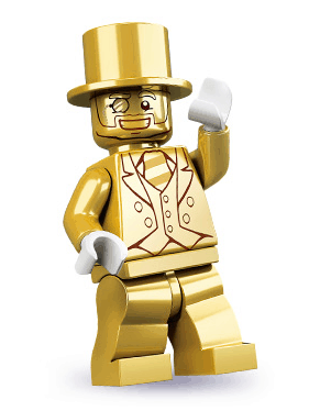 Lego Series 10 Mr. Gold Minifigure Cheeky Old Bastard