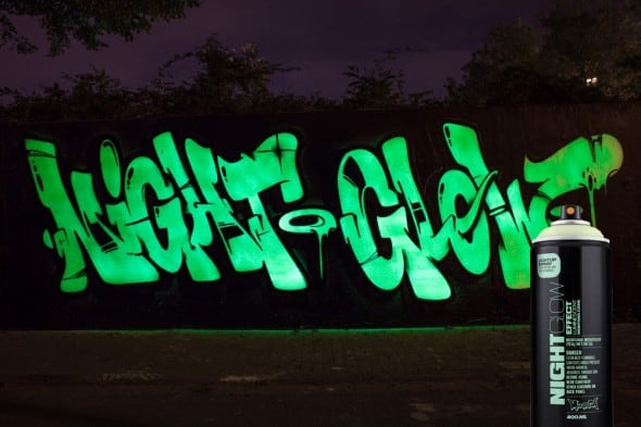 Montana Night Glow Spray Paint Cool Street Art Green Tag Grafitti 400ml Can