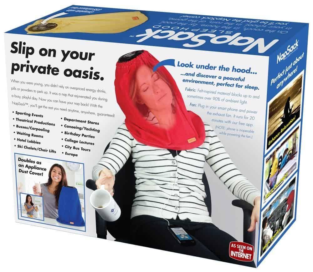 Prank Pack Nap Sack Sleep Hood Funny Gag Dust Cover
