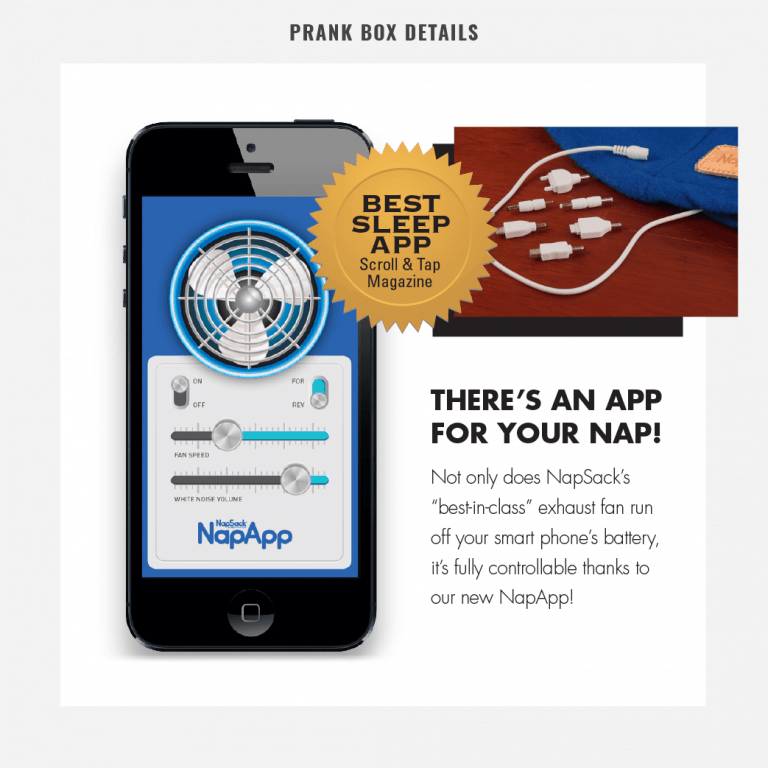 Prank Pack NapSack Sleep Hood Ridiculous App Integration