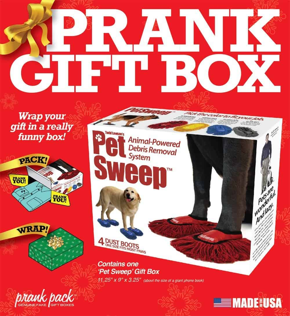Prank Pack Pet Sweep Funny Gag Gift Box