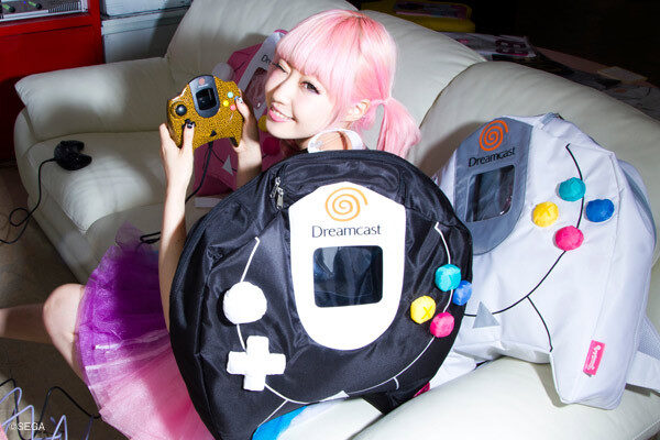 Segakawaii Dreamcast Controller Backpack Cute Japanese girl with Pink Hair Cosplay