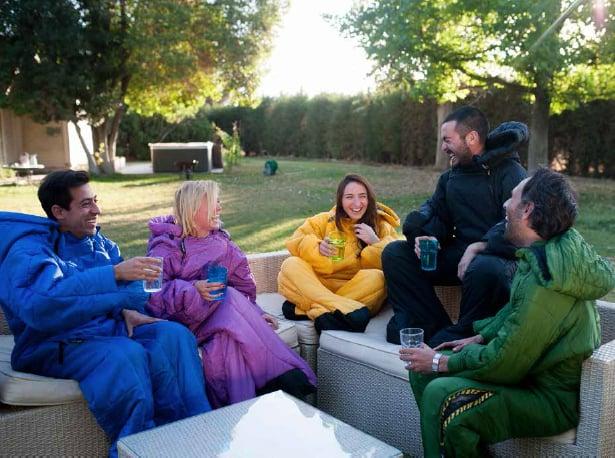 Selk Wearable Sleeping Bag Backyard Camping with Friends Comfortable Jacket