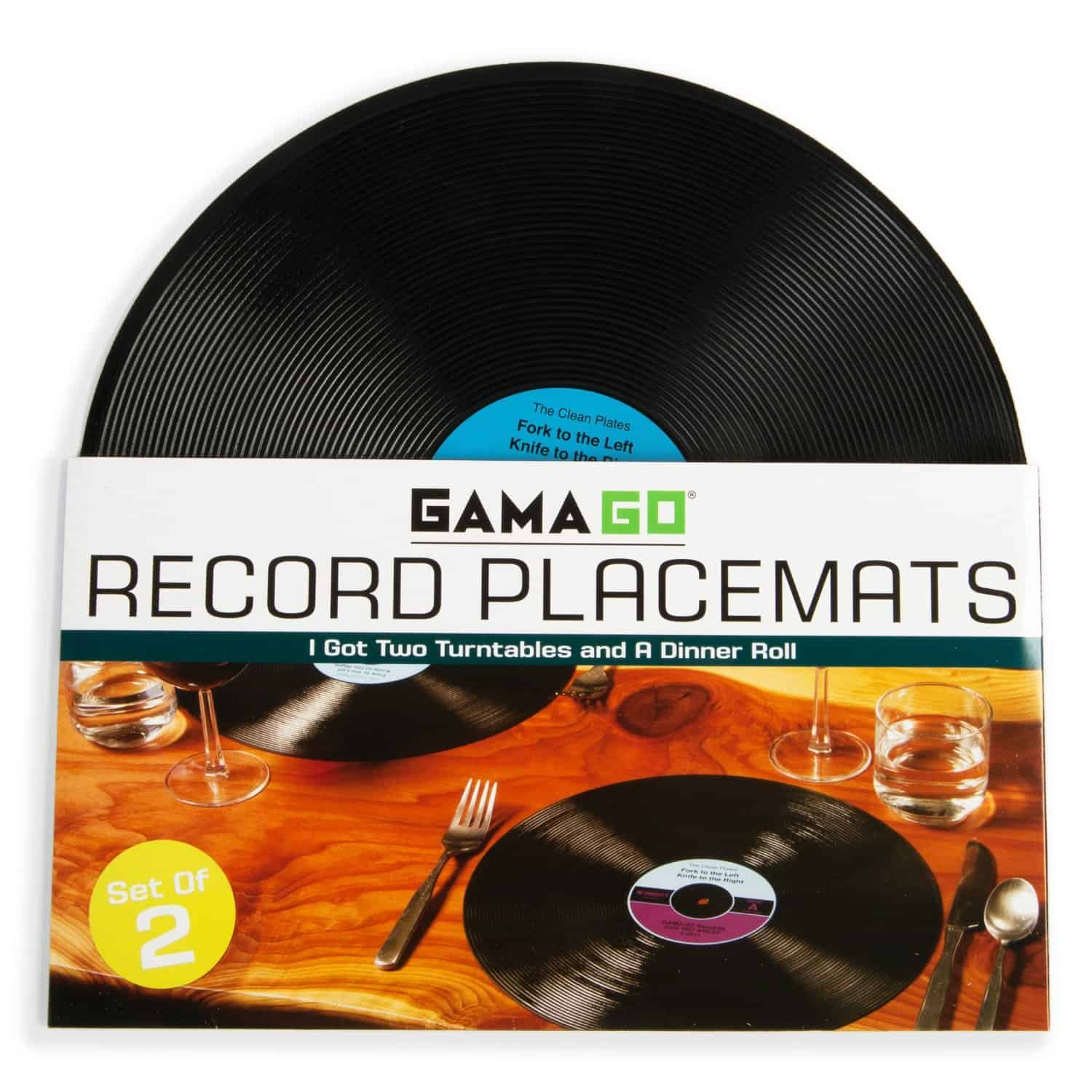 Silicone Record Placemats Unique Gift Idea Kitchen and Dining Related